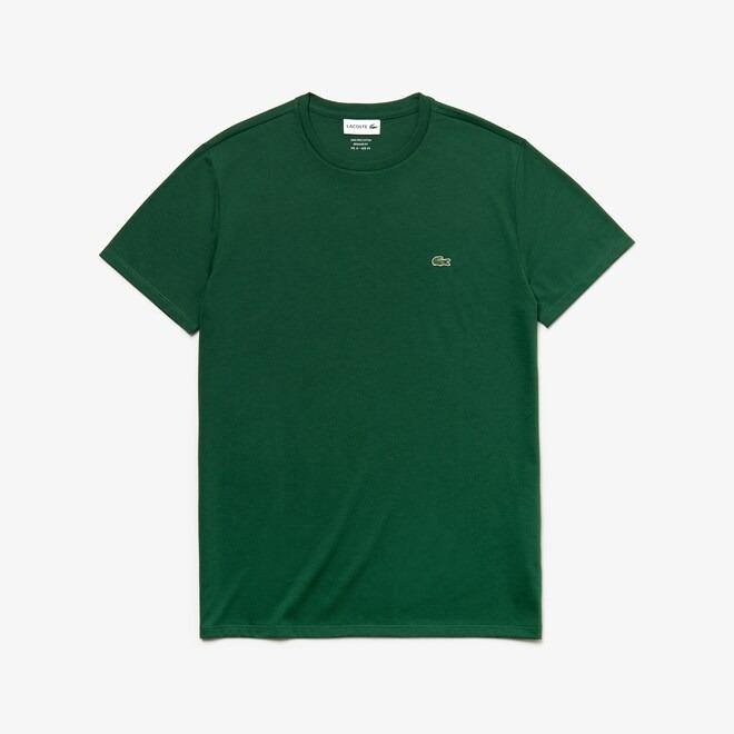 t-shirt-a-girocollo-in-jersey-di-cotone-tinta-unita-verde